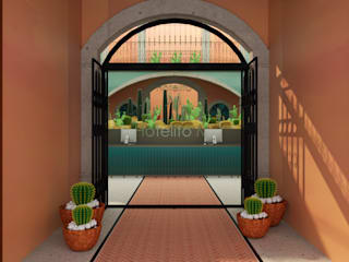 CONCEPTO JORU Eclectic style hotels Bricks Orange