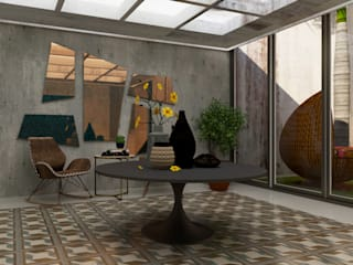 Casa 10 x10 CONCEPTO JORU Pasillos, vestíbulos y escaleras escandinavos Azulejos