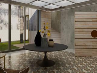 Casa 10 x10 CONCEPTO JORU Pasillos, vestíbulos y escaleras escandinavos