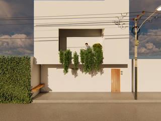 Diseño de loft en 45 m2 Balcones y terrazas industriales de Gustavo Delgado Arquitecto Industrial