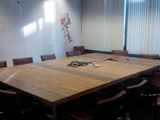 Tevreden klant Kantoorinrichting Bol.com Industriële kantoorgebouwen van steigerhout-teakhout-meubels Industrieel