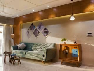 Vaibhav Patel & Associates Salas de estilo moderno Madera Multicolor