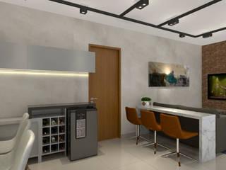 Natália Parreira Design de Interiores Sala da pranzo moderna