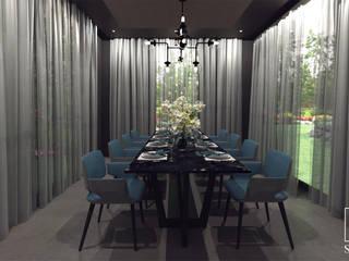 Minimalist dining room by STUDIO 98 Marta Bredow Minimalist