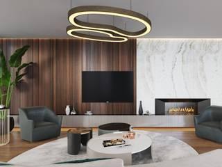 KADIKÖY YENİTEPE M.K. EVİ Modern Oturma Odası Entrada Mimarlık Modern