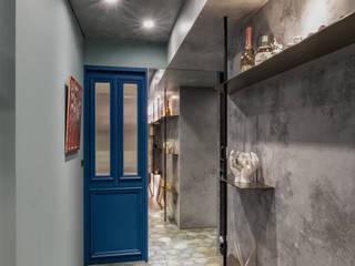 [ 青悠 ] 隨意取材風玄關、階梯與走廊 根據 墨䔳室內裝修設計有限公司 隨意取材風