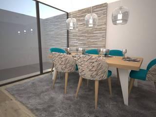 Sala contemporânea Salas de jantar modernas por LMCinteriores Moderno