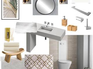 Moodboard / Painel de Ideias de Decoração - Casa de Banho por DA Tailors - Interiores e Decoração Escandinavo