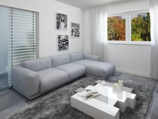 Sala contemporânea Salas de estar modernas por LMCinteriores Moderno