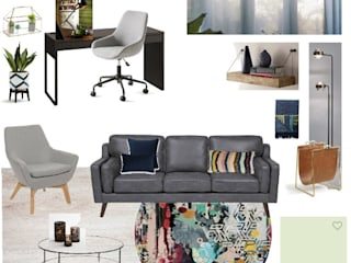 Moodboard / Painel de Ideias de Decoração - Escritório por DA Tailors - Interiores e Decoração Moderno