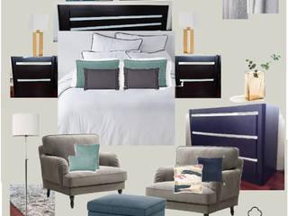 Moodboard / Painel de Ideias de Decoração - Quarto Principal por DA Tailors - Interiores e Decoração Clássico