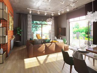 FAMILY IS ALL Гостиная в стиле лофт от Дизайнер интерьера Аня Сушко Лофт