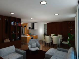 Diseño de Apartamento Salas modernas de G&T Arquitectos sas Moderno