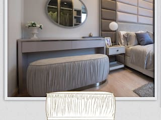 Luxury Modern & Classic Revival เฟอร์นิเจอร์ที่ผสานความคลาสิคที่ร่วมสมัยให้แก่บ้านในโครงการ: ทันสมัย  โดย บริษัท โกลบอล สปริง จำกัด, โมเดิร์น