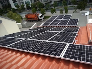 Solar For Home - Pheng Geck Avenue PMCE (Global) Pte. Ltd. Roof terrace