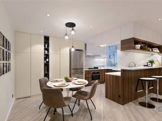 Taikoo Shing, Hong Kong Modern dining room by Darren Design & Associates 戴倫設計 Modern