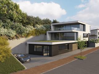 Villa am Sandbuckel Minimalistische Häuser von Peter Stasek Architects - Corporate Architecture Minimalistisch