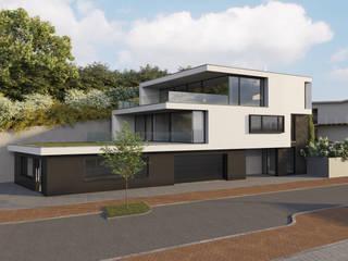 Villa am Sandbuckel von Peter Stasek Architects - Corporate Architecture Minimalistisch