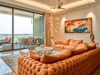 CROWN AURA KEJRIWAL RESIDENCE | BANGALORE Modern Living Room by DUTTA KANNAN & PARTNERS Modern