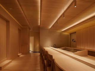 会席尺八 堤由匡建築設計工作室 アジア風レストラン 木 木目調
