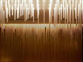 MANZO 亮馬橋 堤由匡建築設計工作室 アジア風レストラン 木 木目調