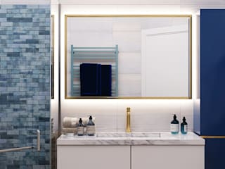 IvE-Interior Eclectic style bathroom White