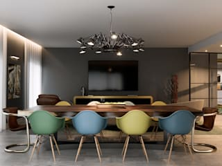 Inêz Fino Interiors, LDA モダンデザインの ダイニング