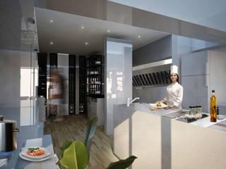 Restaurante en Playa del Carmen Gastronomía de estilo moderno de Arquitectos M253 Moderno