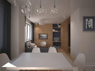 Salones de estilo minimalista de Вахитова Наиля Minimalista