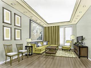 Klassische Wohnzimmer von Вахитова Наиля Klassisch