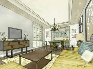 Проект квартиры 3 комнатной квартиры Гостиная в классическом стиле от Вахитова Наиля Классический