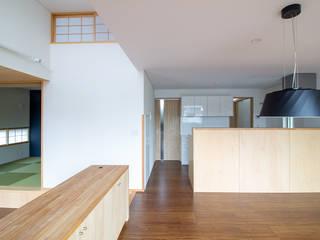 上里の家 オリジナルデザインの ダイニング の あきもとちえこ建築設計事務所 オリジナル
