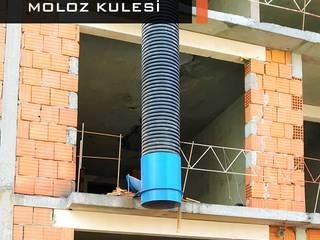 Moloz Kulesi Endüstriyel Balkon, Veranda & Teras Bayrakcı Metal İnşaat Endüstriyel