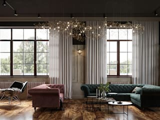 Cozy loft style VILLA IN SAINT-PETERSBURG, FIRST FLOOR Столовая комната в классическом стиле от ANNAROMEO DESIGN Классический