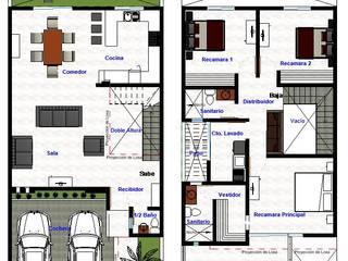 Planos de casas ADapta - Arquitectos Mazatlan Casas unifamiliares