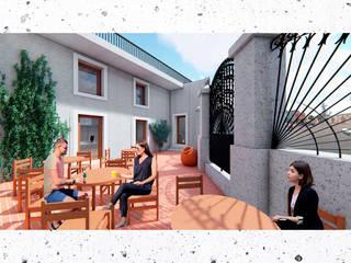 CQFA Balcones y terrazas minimalistas de Frank Maguiña Arquitectos Minimalista