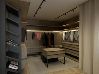 BORAGUI - Design Studio Walk in closets de estilo rústico
