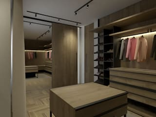 BORAGUI - Design Studio Rustic style dressing room