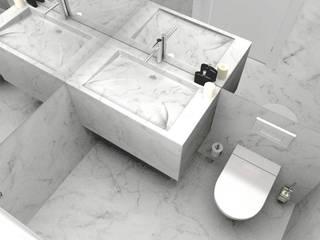Giribita bathroom Casas de banho modernas por Filipa Perestrelo Leite - Design de interiores Moderno