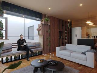 Anaxágoras 123 Salones modernos de Arquitectos M253 Moderno