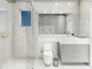 Banheiro Social Banheiros modernos por MJR Arquitetura e Engenharia Moderno