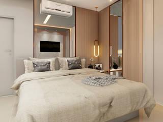 MJR - ENGENHARIA | GERENCIAMENTO | DESIGNERS Modern Bedroom MDF Beige