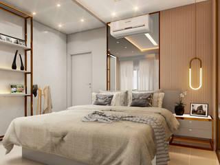 MJR - ENGENHARIA | GERENCIAMENTO | DESIGNERS Modern Bedroom Beige