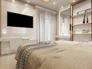 MJR - ENGENHARIA | GERENCIAMENTO | DESIGNERS Modern style bedroom