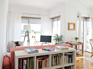 Sunny apartment Salas de estar ecléticas por Filipa Perestrelo Leite - Design de interiores Eclético