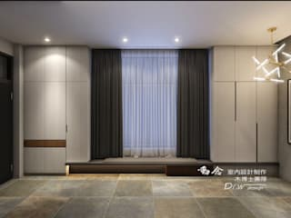 Modern Corridor, Hallway and Staircase by 木博士團隊/動念室內設計制作 Modern