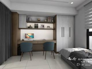 書房/書桌/木地板/現代風 根據 木博士團隊/動念室內設計制作 現代風