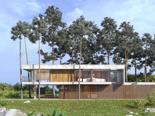 Загородная резиденция Гостиницы в стиле минимализм от БОРИС ЯКУЩЕВ Минимализм