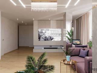 Дизайн-проект просторной квартиры Гостиная в стиле модерн от ArhPredmet Модерн