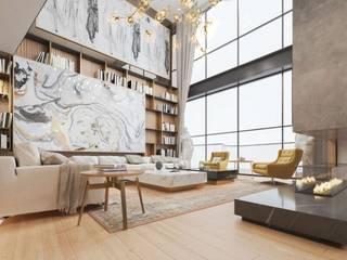 Salones modernos de VERO CONCEPT MİMARLIK Moderno